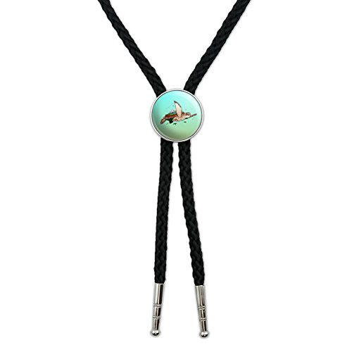 Sea Turtle Flying Western Southwest Cowboy Necktie Bow Bolo Tie
