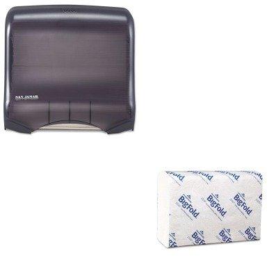 KITGEP33587SJMT1750TBKRD - Value Kit - Georgia Pacific Z-Fold Replacement Paper Towels (GEP33587) and San Jamar Ultrafold Towel Dispenser (SJMT1750TBKRD)