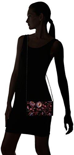 Suede Tab Floral RANDALL LOEFFLER Black Clutch Embroidered qOxfAvAw