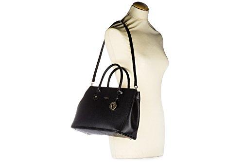 Furla sac à main femme en cuir linda noir