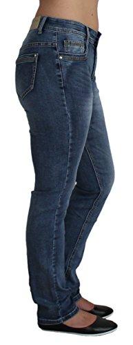 BBS mujer Básico para recto Azul Vaqueros Jeans 4rwxXHcq4U