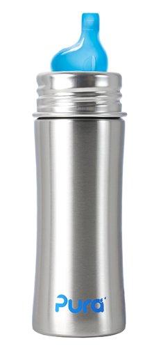 3 opinioni per Pura Kiki- Biberon con beccuccio per bambini, in acciaio Inox, 325 ml