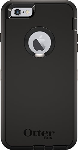 OtterBox DEFENDER iPhone 6 Plus/6s Plus Case - Retail Packaging - BLACK (Iphone 6 Case Waterproof Apple)