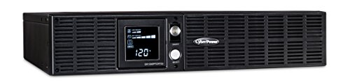 CyberPower OR1000PFCRT2U PFC Sinewave UPS System, 1000VA/700W, 8 Outlets, AVR, 2U Rack/Tower