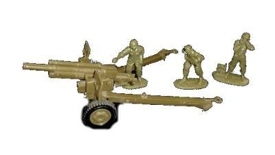 Classic Toy Soldiers, WWII US 105mm cannon with 3 man crew in 1/32 scale by Classic Toy Soldiers, Inc ()
