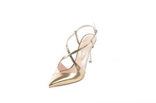 SERGIO ROSSI FEMME A69800210 OR CUIR SANDALES