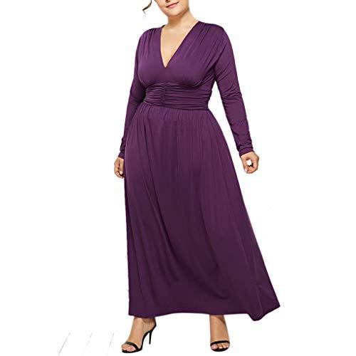 Landfox Clothing Shoes, Fashion Sexy Ladies Cocktail Dress, Women's Party Wrap Dress V-Neck Slim Dress Purple from Landfox