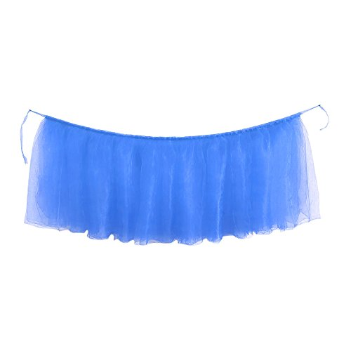 AKwell Tulle Table Skirt for Rectangle Tables or Round Table Fluffy Tutu Table Skirt High-end Gold Brim Table Skirting for Party,Wedding,Birthday Party&Home ()