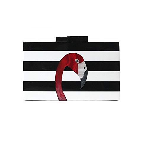 Bolso del Monedero y de Bolso la Noche del de Boda Embrague Monedero del Embrague de del Negro Bolsos Monedero Crossbody de de Blanco acrlico del de Flada XwPaq7
