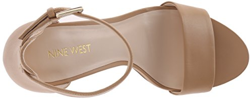 West Light Natural Light Leather Nine Nora cuero Vestido Sandal West de wqBt88