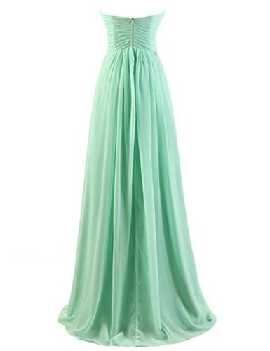 Uther Teal Pleated Evening Gown Dresses Party Bridesmaid Prom Chiffon Long Sweetheart rFWnrqv