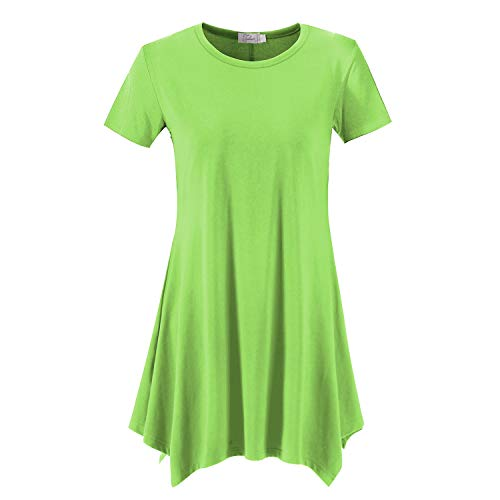 Topdress Women's Loose Fit Swing Shirt Casual Tunic Top Leggings Sprout Green 2X