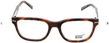 Montblanc Dark Havana Men's Square Eyeglasses (MB0705 052 54)