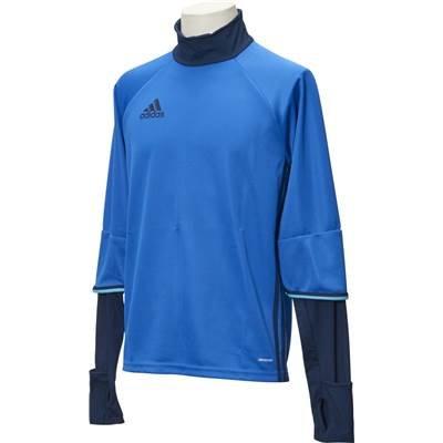 超えるシティすでにadidas(アディダス) サッカー ハイネックTシャツ Condivo16 ハイブリッド フィットトップ ブルー×カレッジネイビー ABK08-AB3064