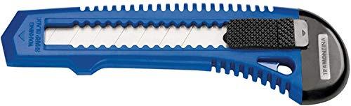 Tramontina 43390300, Estilete Retrátil 6, Corpo Injetado, Lamina em Aço Especial, Botão para Trava da Lamina, Azul