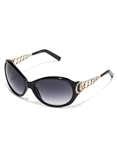 GUESS Factory Women's Plastic Metal Round - Black Guess Sunglasses