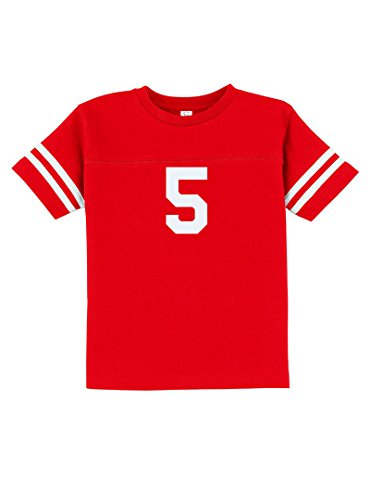 Number Toddler Jersey T-shirt - Sport Football Baseball Team Number 5