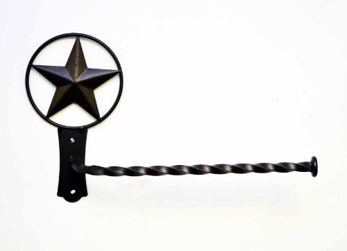 STAR WALL PAPER TOWEL HOLDER-15.5''Long X 9'' High by Laredo Import (Image #2)