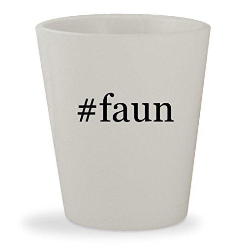 #faun - White Hashtag Ceramic 1.5oz Shot Glass