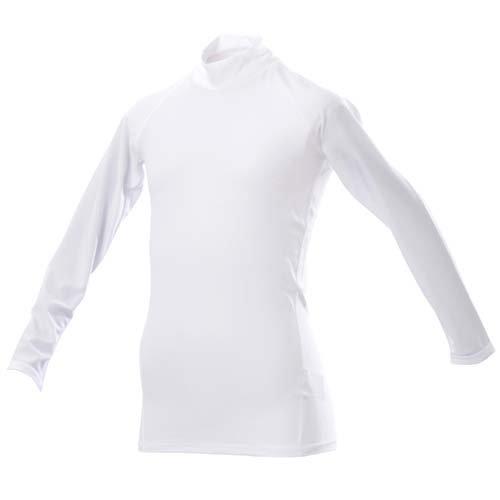 放棄比率ラベ(エスエーギア) s.a.gear ジュニア長袖ストレッチアンダーシャツ 160CM ホワイト
