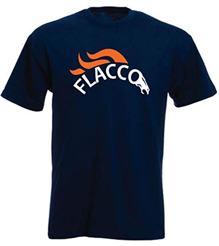 Prospect Shirts Navy Denver Flacco Logo T-Shirt Adult