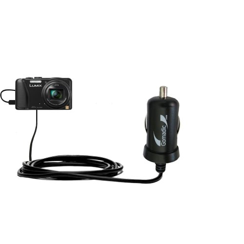 2 Amp (10W) Mini Car / Auto DC Charger Compatible with Panasonic Lumix DMC-ZS25K - Amazingly small and powerful 10W design, built with Gomadic Brand TipExchange Technology free shipping