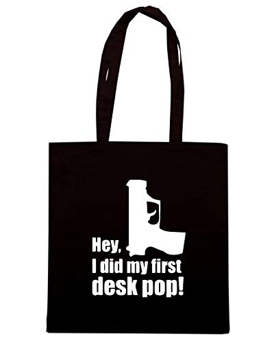 POP Shirt FIRST TM0522 Borsa Speed I DID MY DESK Nera Shopper v8qSdU