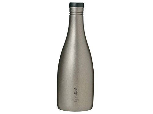 Snow Peak Men's Titanium Sake Bottle, Silver, One Size by Snow Peak