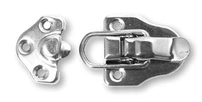 Nickel Toggle Trunk Drawbolt Catch Closure Clasp Latch (Bag of 60 Left) | Lock for Chest Suitcase, Jewelry Box, Trunk & Antique or Modern Furniture + Free Bonus (Skeleton Key Badge) | LQ-0864NP (6) by UNIQANTIQ HARDWARE SUPPLY (Image #2)