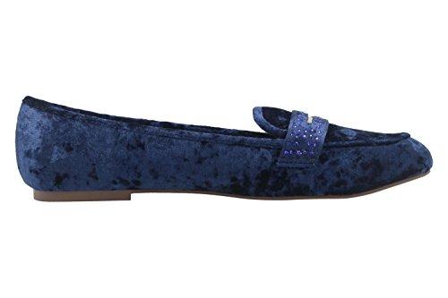 Terciopelo Fitters Mujer Para De Velvet Navy Bailarinas Footwear Azul Cvw1qvptx