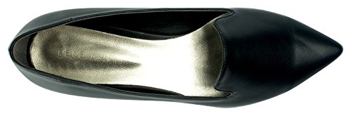 Flats with Loafer Black Womens Pointy Black Heel Pearl AnnaKastle Toe qxwUgT6AX