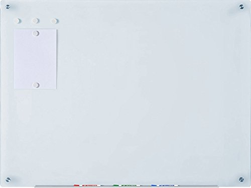 Audio-Visual Direct White Magnetic Glass Dry-Erase Board Set -35 1/2 x 47 1/4 Inches -