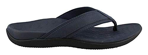 (Vionic Men's Tide Toe-Post Sandal - Flip Flop with Concealed Orthotic Arch Support Navy 7 M US)