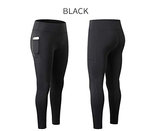 Da Capri Elastici Black A Vita Tasche Pants Leggings Donna Di Laterali Ms Skinny Pantaloni Sypnb Running Alta Sportivo Fitness Moda Fitness Nine gwxaq1