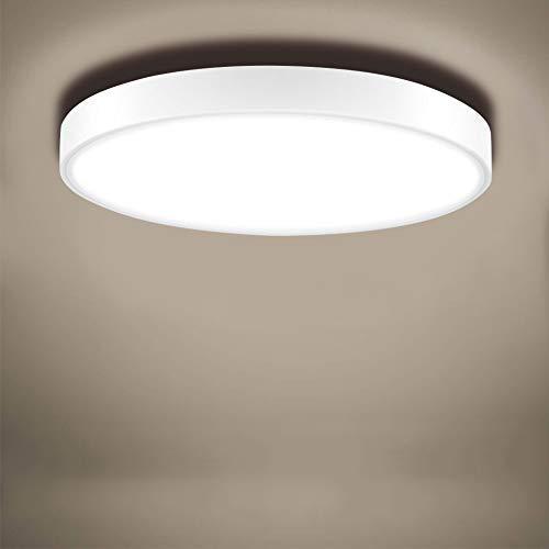 Sararoom Deckenlampe, LED Deckenleuchte Dimmbar 36W, 2100LM, Ø50cm, Kaltweiß 2800K-6500K LED Deckenleuchte Rund IP20 Wasserdicht für Badezimmer, Schlafzimmer, Küche, Balkon, Korridor, Büro, Wohnzimmer