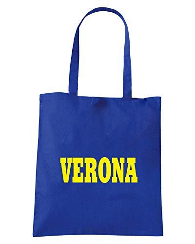 LOGO CITTA Royal Shopper Borsa Blu VERONA STEMMA ITALIA WC1003 R81xUwqA