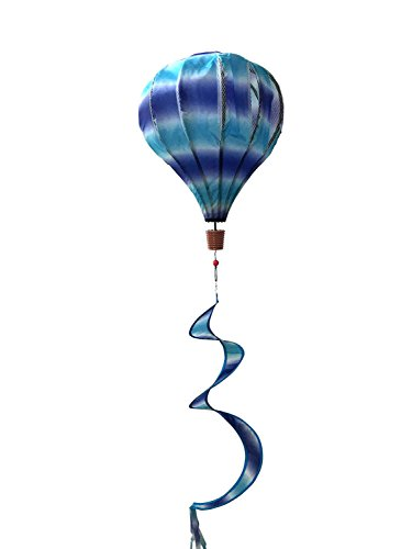 Blue & Purple Deluxe Hot Air Balloon Wind Twister Everyday 54