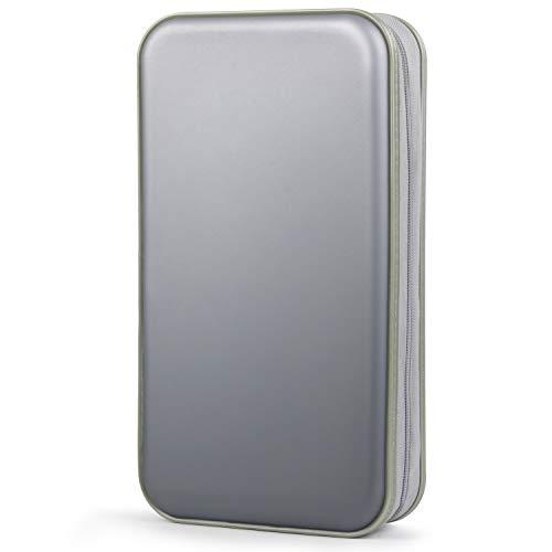 - CD Case, Fanspack 80 Capacity DVD Case DVD Organizer CD Holder Case CD Storage Case Hard Plastic DVD CD Wallet (Grey)