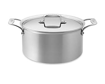 All-clad d55508 D5 pulido 18/10 acero inoxidable 5-ply Tejido lavavajillas olla utensilios de cocina, 8-quart, Plata: Amazon.es: Hogar