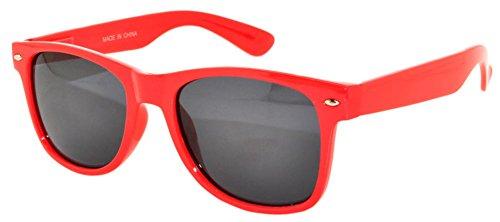 Red Frame Vintage Smoke Lens Sunglasses Retro Style OWL (Sun Framed)