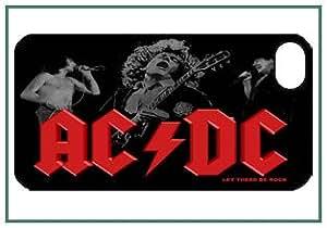 AC/DC iPhone 4s iPhone4s Diseñador Negro duro Funda Protector de parachoques Carcasa Case Cover
