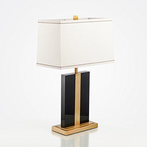 PinWei_ Amerikanische Einfachheit kreative Tisch Lampe modernen chinesischen Stil Luxus schwarz K9 Kristall reines Kupfer Modell Zimmer Schlafzimmer Nachttischlampe