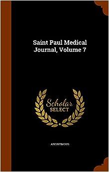 Book Saint Paul Medical Journal, Volume 7