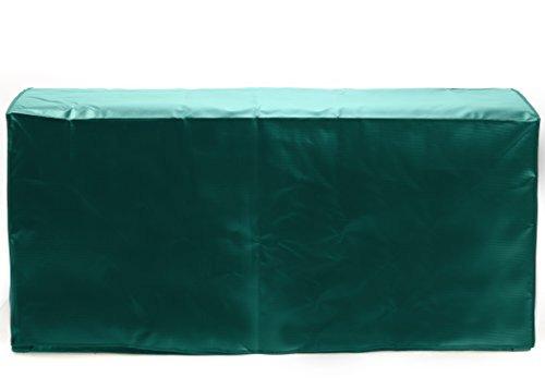 Cover for Suncast DBW9200 Mocha Wicker Resin Deck Box, 99-Gallon (Black / Green / Blue) (Green) (Resin Wicker Patio Furniture Winter)
