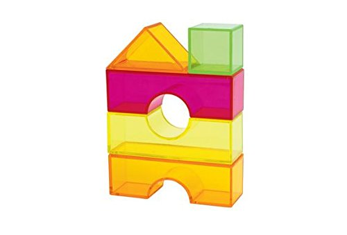 Excellerations LTBLK100 Translucent Light Blocks in a Bin (Pack of 100)