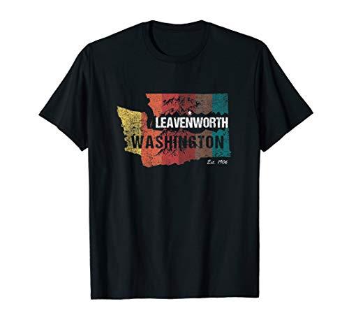 (Leavenworth WA Washington Retro Distressed Souvenir T-Shirt)