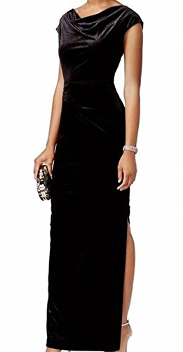 Gown Velvet Sparkle Cowl Neck Dress Black 12 (Vince Cowl Neck)