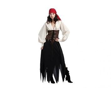 Juguetes Fantasia - Disfraz mujer pirata vestido adulto: Amazon.es ...