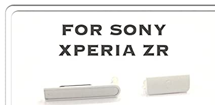 super cute c43a6 14bbf AVYUKTA BRAND NEW Sony Xperia ZR USB Port Micro SD SIM Card Block Cover Cap  -WHITE, Micro SD+SIM Card USB Slot Port - Cover Plug for Sony Xperia ZR -  ...