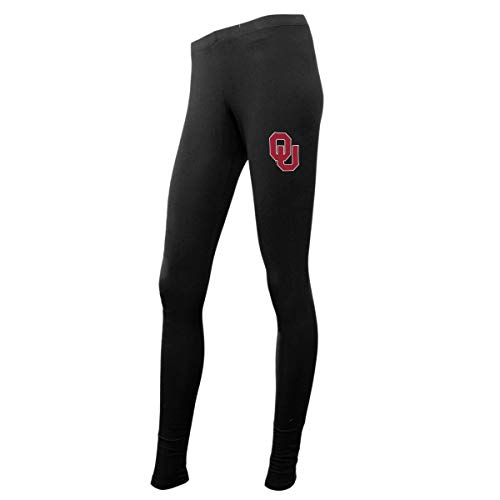 Concepts Sport Ladies NCAA Black Leggings-Oklahoma (Oklahoma Lady Sooners Basketball)